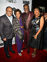 LOS ANGELES, CA- FEB. 08: Alfons Adetuyi, Marla Gibbs, Keith David, Angela Gibbs at the 2018 Pan African Film & Arts Festival at the Cinemark Baldwin Hills 15 in Los Angeles, California on Feburary 8, 2018 Credit: Koi Sojer/ Snap'N U Photos / Media Punch