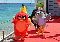 """CANNES, FRANCE. May 13, 2019: Angry Birds at the photocall for """"The Angry Birds Movie 2"""" at the Festival de Cannes.<br /> Picture: Paul Smith / Featureflash"""
