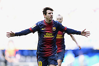 FUSSBALL  INTERNATIONAL  PRIMERA DIVISION  SAISON 2012/2013     26. Spieltag  El Clasico   Real Madrid  - FC Barcelona        02.03.2013 JUBEL, Lionel Messi (Barca) nach seinem Tor zum 1-1 Ausgleich