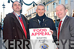 The Killarney Lions club will hold their annual collection for their Christmas food appeal next week and they are calling on everyone to support the worthy cause. .L-R President Martin O'Brien, Denis Murphy and Tim O'Leary.