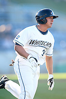West Michigan Whitecaps second baseman Corey Jones (34) during a game vs. the South Bend Silver Hawks at Fifth Third Field in Comstock Park, Michigan August 16, 2010.   West Michigan defeated South Bend 3-2.  Photo By Mike Janes/Four Seam Images