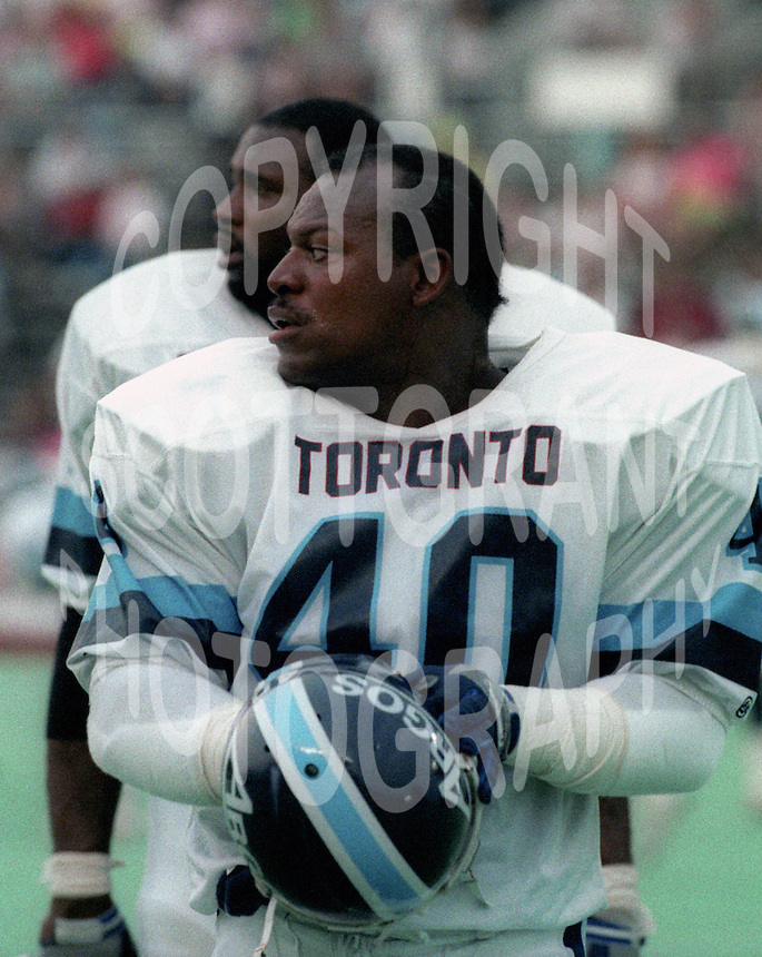 James Parker Toronto Argonauts 1990. Photo F. Scott Grant