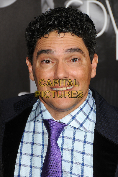 "Nick Turturro.""This Means War"" Los Angeles Premiere held at Grauman's Chinese Theatre, Hollywood, California, USA..February 8th, 2012.headshot portrait black purple tie blue check shirt .CAP/ADM/BP.©Byron Purvis/AdMedia/Capital Pictures."