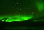 HUDSON BAY AND THE NORTHERN LIGHTS,  'Aurora borealis' CHURCHILL, MANITOBA, CANADA