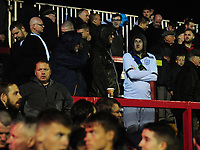 Preston North End fans look dejected after their sides defeat<br /> <br /> Photographer Kevin Barnes/CameraSport<br /> <br /> The Carabao Cup - Accrington Stanley v Preston North End - Tuesday 8th August 2017 - Crown Ground - Accrington<br />  <br /> World Copyright &copy; 2017 CameraSport. All rights reserved. 43 Linden Ave. Countesthorpe. Leicester. England. LE8 5PG - Tel: +44 (0) 116 277 4147 - admin@camerasport.com - www.camerasport.com