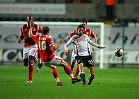 ATTENTION SPORTS PICTURE DESK<br /> Pictured: Federico Bessone of Swansea City in action <br /> Re: Coca Cola Championship, Swansea City Football Club v Nottingham Forest at the Liberty Stadium, Swansea, south Wales. Saturday 12 December 2009