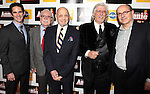 Andy Blankenbuehler, Thomas Meehan, Charles Strouse, Martin Charnin & James Lapine attending the Broadway Opening Night Performance After Party for 'Annie' at the Hard Rock Cafe in New York City on 11/08/2012