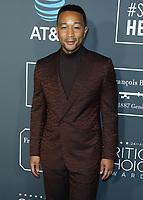 SANTA MONICA - JANUARY 13: John Legend at the 24th Annual Critics' Choice Awards at the Barker Hangar on January 13, 2019, in Santa Monica, California. (Photo by Xavier Collin/PictureGroup)