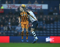 Hull City's Todd Kane and Preston North End's Andrew Hughes<br /> <br /> Photographer Stephen White/CameraSport<br /> <br /> The EFL Sky Bet Championship - Preston North End v Hull City - Wednesday 26th December 2018 - Deepdale Stadium - Preston<br /> <br /> World Copyright &copy; 2018 CameraSport. All rights reserved. 43 Linden Ave. Countesthorpe. Leicester. England. LE8 5PG - Tel: +44 (0) 116 277 4147 - admin@camerasport.com - www.camerasport.com