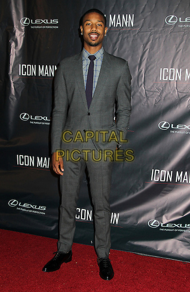 Beverly Hills, CA - FEBRUARY 25: Michael B. Jordan Attending Icon Mann's 2nd Annual Power 50 Pre-Oscar Dinner, Held at Peninsula Hotel California on February 25, 2014. Photo Credit: RTNSadou/MediaPunch<br /> CAP/MPI/RTN/SAD<br /> &copy;RTNSadou/MediaPunch/Capital Pictures