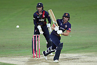 Daniel Lawrence in batting action for Essex as Sam Billings looks on from behind the stumps during Kent Spitfires vs Essex Eagles, Vitality Blast T20 Cricket at the St Lawrence Ground on 2nd August 2018