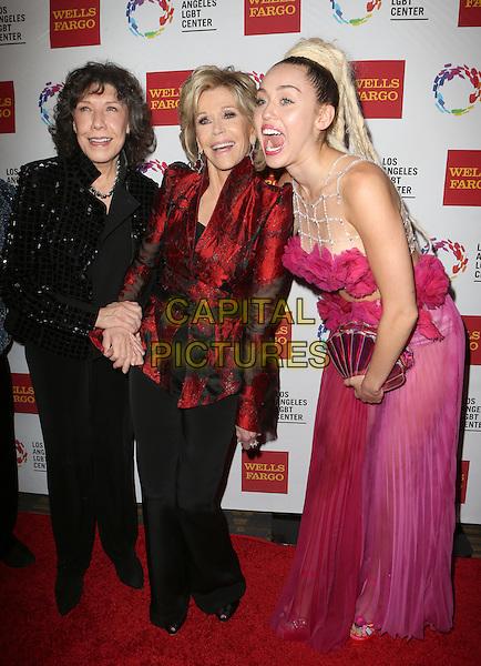 Century City, CA - November 07  Lily Tomlin, Jane Fonda, Miley Cyrus Attending 46th Anniversary Gala Vanguard Awards - Arrivals At the Hyatt Regency Century Plaza On November 07, 2015. <br /> CAP/MPI/FS<br /> &copy;FS/MPI/Capital Pictures