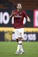 Zlatan Ibrahimovic of AC Milan during the Serie A football match between AC Milan and Bologna FC at stadio Giuseppe Meazza in Milano ( Italy ), July 18th, 2020. Play resumes behind closed doors following the outbreak of the coronavirus disease. <br /> Photo Image Sport / Insidefoto
