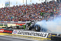 Mar 20, 2016; Gainesville, FL, USA; NHRA top fuel driver Brittany Force during the Gatornationals at Auto Plus Raceway at Gainesville. Mandatory Credit: Mark J. Rebilas-USA TODAY Sports