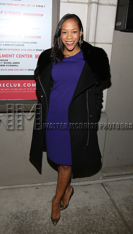 Nikki M. James attend the Manhattan Theatre Club's Broadway debut of August Wilson's 'Jitney' at the Samuel J. Friedman Theatre on January 19, 2017 in New York City.