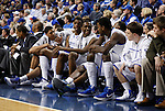 The UK bench during the second half of the University of Kentucky basketball game against the University of Georgia, at Rupp Arena, on March 1, 2012. UK won 79-49. Photo by Latara Appleby | Staff ..