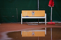 26-08-12, Netherlands, Amstelveen, Tennis, NVK, bench in the rain