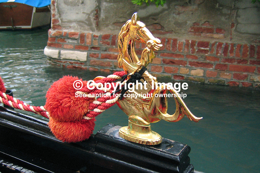 Gondola ornament, Venice, Italy, 200609150258..Copyright Image from Victor Patterson, 54 Dorchester Park, Belfast, UK, BT9 6RJ..Tel: +44 28 9066 1296.Mob: +44 7802 353836.Voicemail +44 20 8816 7153.Skype: victorpattersonbelfast.Email: victorpatterson@mac.com.Email: victorpatterson@ireland.com (back-up)..IMPORTANT: If you wish to use this image or any other of my images please go to www.victorpatterson.com and click on the Terms & Conditions. Then contact me by email or phone with the reference number(s) of the image(s) concerned.