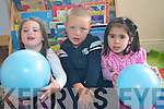 Sophie Bell, Nikodem Niewiadowski and Jennifer  Doyle who enjoyed  in the Down Syndrome Ireland Ice-Cream party at Cahereen Height Childcare Facility in Castleisland.