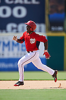Washington Nationals Daniel Johnson (7) during an Instructional League game against the Atlanta Braves on September 30, 2016 at Space Coast Stadium in Melbourne, Florida.  (Mike Janes/Four Seam Images)