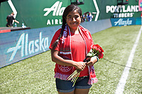 Portland, OR - Saturday August 05, 2017: Girl of the Game during a regular season National Women's Soccer League (NWSL) match between the Portland Thorns FC and the Houston Dash at Providence Park.