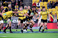 Angus Ta'avao-Matau in action during the Super Rugby match between the Hurricanes and Chiefs at Westpac Stadium in Wellington, New Zealand on Friday, 13 April 2018. Photo: Dave Lintott / lintottphoto.co.nz