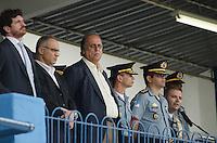 RIO DE JANEIRO, RJ, 09.05.2014 - FORMATURA POLICIA MILITAR DO RIO DE JANEIRO - Luiz Fernando Pez&atilde;o governador do Rio de Janeiro durante Formatura do Curso de Forma&ccedil;&atilde;o de Soldados da Turma V/2013-<br />  496 formandos na turma &ldquo;3&deg; sargento PM Arnaldo Fonseca dos Santos&rdquo;, presentes na cerimonia coronel Jos&eacute; Luis Castro Menezes, o Chefe do Estado Maior Administrativo Coronel Ricardo Pacheco Coutinho, al&eacute;m de chefes e diretores. No Centro de Forma&ccedil;&atilde;o de Aperfei&ccedil;oamento de Pra&ccedil;as  no Rio de Janeiro nesta sexta-feira, 09.  (Foto: T&eacute;rcio Teixeira / Brazil Photo Press).