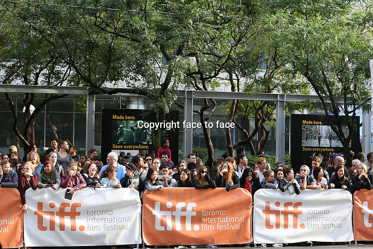 Atmosphere: Fans attending the 2013 Tiff Film Festival Red Carpet for &quot;Can A Song Save Your Life?&quot; at The Princess of Wales Theatre on September 7, 2013 in Toronto, Canada.<br /> Credit: McBride/face to face