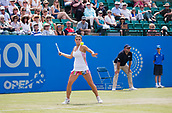 June 14th 2017, Nottingham,  England; WTA Aegon Nottingham Open Tennis Tournament day 5;  All eyes on the ball from Jana Fett of Croatia