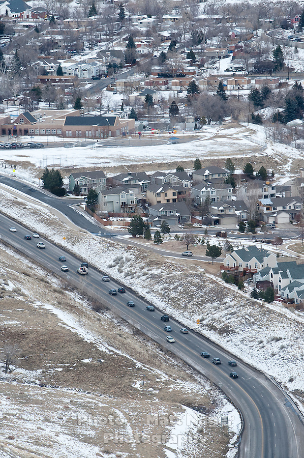 US-6 becomes Highway 93 just North of Golden, Colorado, Thursday, January 12, 2012. Golden is voting on weather or not to complete the beltway around Denver...Photo by Matt Nager