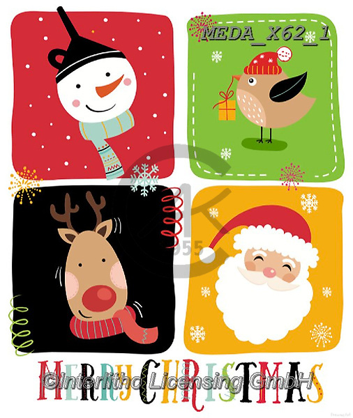Dreams, CHRISTMAS ANIMALS, WEIHNACHTEN TIERE, NAVIDAD ANIMALES, paintings+++++,MEDAX62/1,#XA#