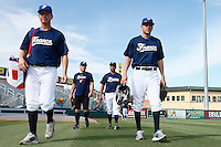 20 September 2012: Anthony Piquet and Owen Ozanich arrive on the field prior to Spain 8-0 win over France, at the 2012 World Baseball Classic Qualifier round, in Jupiter, Florida, USA.