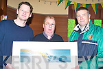 PAINTING: On Thursday morning last in the Castle Bar, Upper Rock Street, Gerard O'Sullivan (St Brendans BB) presented Brian Switzer, winner of the St Brendans Basketball Club Draw, with a painting which was donated by Artist John Hurley to raise funds for the club over the Christmas period, l-r: John Hurley, Brian Switzer and Gerard O'Sullivan.   Copyright Kerry's Eye 2008