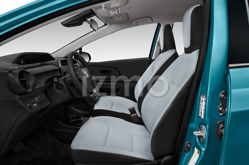 Front seat view of a 2018 Toyota Prius c One 5 Door Hatchback front seat car photos