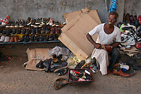 The shoe maker/fixer in the streets of Colombo, Sri Lanka, Street Photography