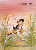 Ron, CUTE ANIMALS, Quacker, paintings, brown duck, rose(GBSG7195,#AC#) Enten, patos, illustrations, pinturas