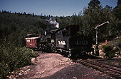 D&amp;RGW #483 switching with caboose #4343 at Sublette.<br /> D&amp;RGW  Sublette, NM