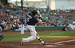 Reno Aces' Nick Ahmed bats against the Omaha Storm Chasers, in Reno, Nev., on Sunday, Aug. 24, 2014.<br /> Photo by Cathleen Allison
