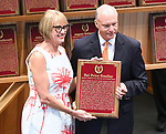 Scenes from the National Museum of Racing Hall of Fame ceremony on August 03, 2018 at the Fasig-Tipton Sales Pavilion in Saratoga Springs, New York. (Bob Mayberger/Eclipse Sportswire)