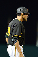 Bradenton Marauders hitting coach Ryan Long (29) during a game against the Charlotte Stone Crabs on April 22, 2015 at McKechnie Field in Bradenton, Florida.  Bradenton defeated Charlotte 7-6.  (Mike Janes/Four Seam Images)