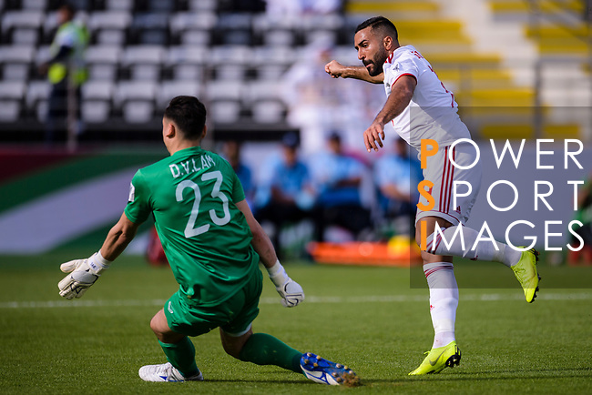 Seyed Ashkan Dejagah of Iran (R) in action during the AFC Asian Cup UAE 2019 Group D match between Vietnam (VIE) and I.R. Iran (IRN) at Al Nahyan Stadium on 12 January 2019 in Abu Dhabi, United Arab Emirates. Photo by Marcio Rodrigo Machado / Power Sport Images