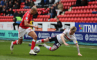 Darren Pratley of Charlton Athletic fouls Hayden Coulson of Middlesbrough during Charlton Athletic vs Middlesbrough, Sky Bet EFL Championship Football at The Valley on 7th March 2020