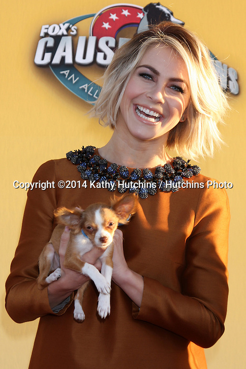 "LOS ANGELES - NOV 22:  Julianne Hough at the FOX's ""Cause for Paws:  All-Star Dog Spectacular"" at the Barker Hanger on November 22, 2014 in Santa Monica, CA"