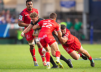 Bath Rugby's Rhys Priestland in action during todays match<br /> <br /> Photographer Bob Bradford/CameraSport<br /> <br /> European Rugby Champions Cup - Bath Rugby v Toulouse - Saturday 13th October 2018 - The Recreation Ground - Bath<br /> <br /> World Copyright © 2018 CameraSport. All rights reserved. 43 Linden Ave. Countesthorpe. Leicester. England. LE8 5PG - Tel: +44 (0) 116 277 4147 - admin@camerasport.com - www.camerasport.com