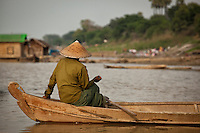 On the edge of the Ayeyarwady river, Mandalay, Myanmar