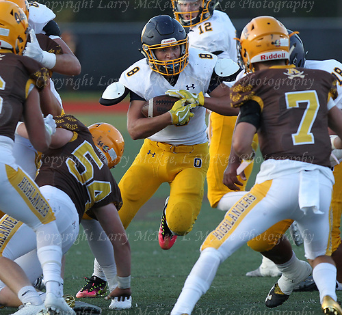 Oxford and Rochester Adams square off in varsity football action at Adams Friday, Sept. 8, 2017. Photos: Larry McKee, L McKee Photography. PLEASE NOTE: ALL PHOTOS ARE CUSTOM CROPPED. BEFORE PURCHASING AN IMAGE, PLEASE CHOOSE PROPER PRINT FORMAT TO BEST FIT IMAGE DIMENSIONS. L McKee Photography, Clarkston, Michigan. L McKee Photography, Specializing in Action Sports, Senior Portrait and Multi-Media Photography. Other L McKee Photography services include business profile, commercial, event, editorial, newspaper and magazine photography. Oakland Press Photographer. North Oakland Sports Chief Photographer. L McKee Photography, serving Oakland County, Genesee County, Livingston County and Wayne County, Michigan. L McKee Photography, specializing in high school varsity action sports and senior portrait photography.