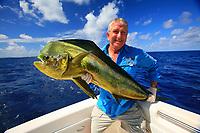 Mahi mahi, Coryphaena hippurus, dolphinfish, dorado, and angler, sportfishing