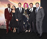 David Ajala,Mila Kunis Kutcher ,Channing Tatum,Lana Wachowski,Kick Gurry and Sean Bean attends Warner Bros. Pictures L.A. Premiere of Jupiter Ascending held at The TCL Chinese Theater  in Hollywood, California on February 02,2015                                                                               © 2015 Hollywood Press Agency