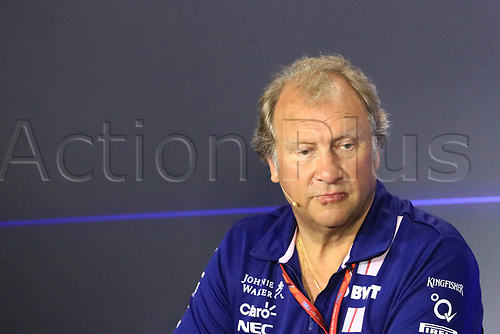 1st September 2017, Autodromo Nazionale Monza, Monza; Italian Grand Prix, Friday FIA Team Press Conference; Robert Fernley - Deputy Team Principal of Sahara Force India