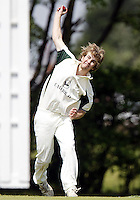 Freddie Issit bowls for North London during the Middlesex County Cricket League Division Three game between Wembley and North London at Vale Farm, Wembley on Sat May 31, 2014